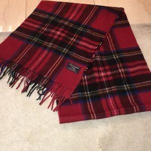 NWT Abercrombie unisex wool blend fringe scarf